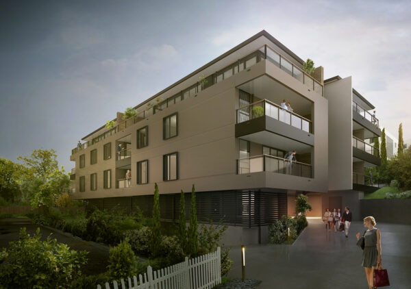 jaws architects 51 sandy bay road tasmania heritage listed apartments residential render exterior