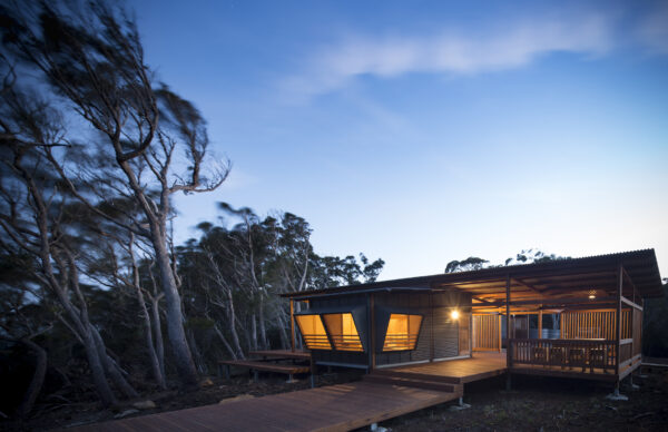 Jaws Architects Three Capes Track Cabins Award winning Tourism Commercial sustainable Architecture cabin exterior