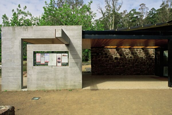 Tourism Jaws Architects Mount Field Visitor Centre National Park Tasmania concrete stone exterior