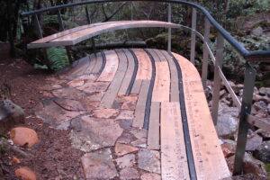 Jaws Architects Tourism St Crispin Well Interpretation Platform Timber Curved Bench Seating