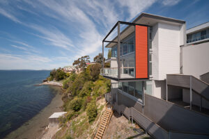 Residential Jaws Architects Sandy Bay Houses Exterior View Glazing Balcony tasmania