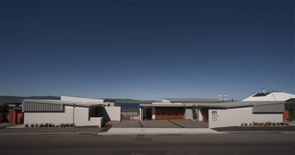 Residential Jaws Architects Sandy Bay Houses street view exterior timber tasmania
