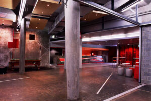 Jaws Architects Commercial Utas Unibar red interior Sand Bay Tasmania