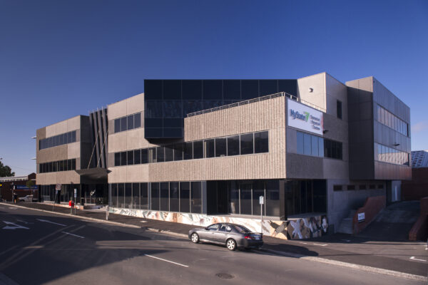 Jaws Architects Commercial MyState Building Street View Exterior Facade Hobart