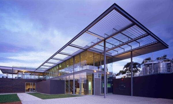 Commercial Restaurant Moorilla Mona Tasmania Canopy glazing