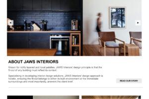 jaws interiors design website launch
