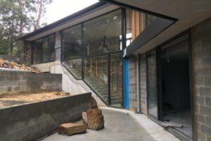 stringybark house under construction
