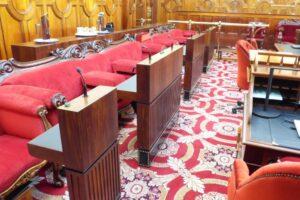 hobart legislative council chamber joinery jawsarchitects