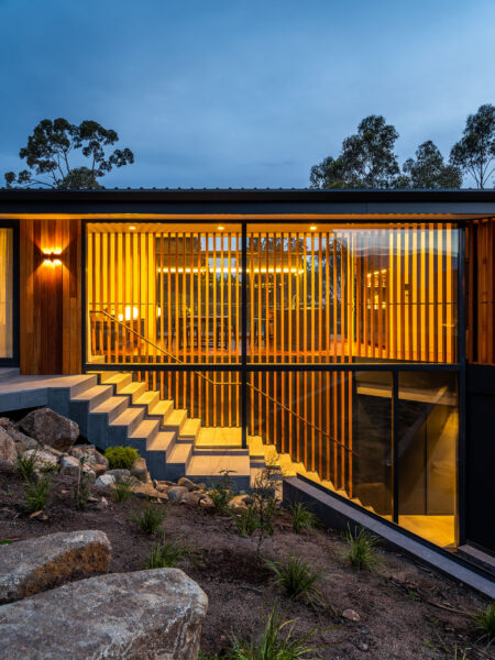 stringybark residence jaws architects hobart residential architecture stair